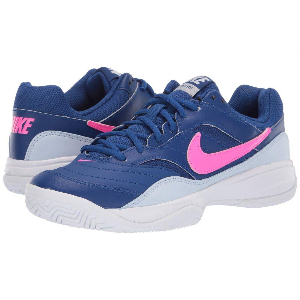 ナイキ Nike レディース テニス シューズ・靴【Court Lite】Indigo Force/Pink Blast/Half Blue/White