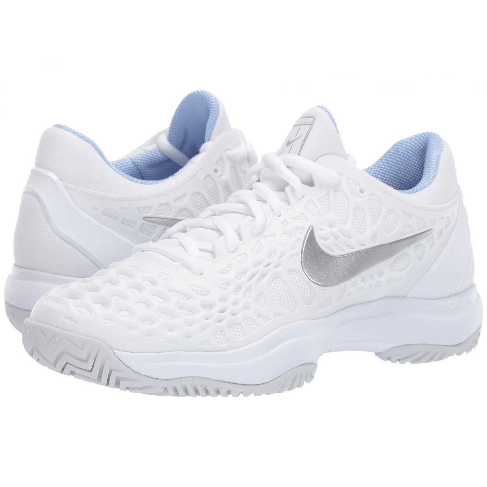 ナイキ Nike レディース テニス シューズ・靴【Zoom Cage 3 HC】White/Metallic Silver/Pure Platinum 1