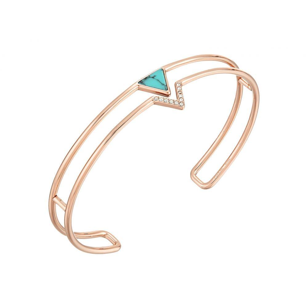 フォッシル Fossil レディース ジュエリー・アクセサリー ブレスレット【Triangle Open Cuff Bracelet】Rose Gold Tone