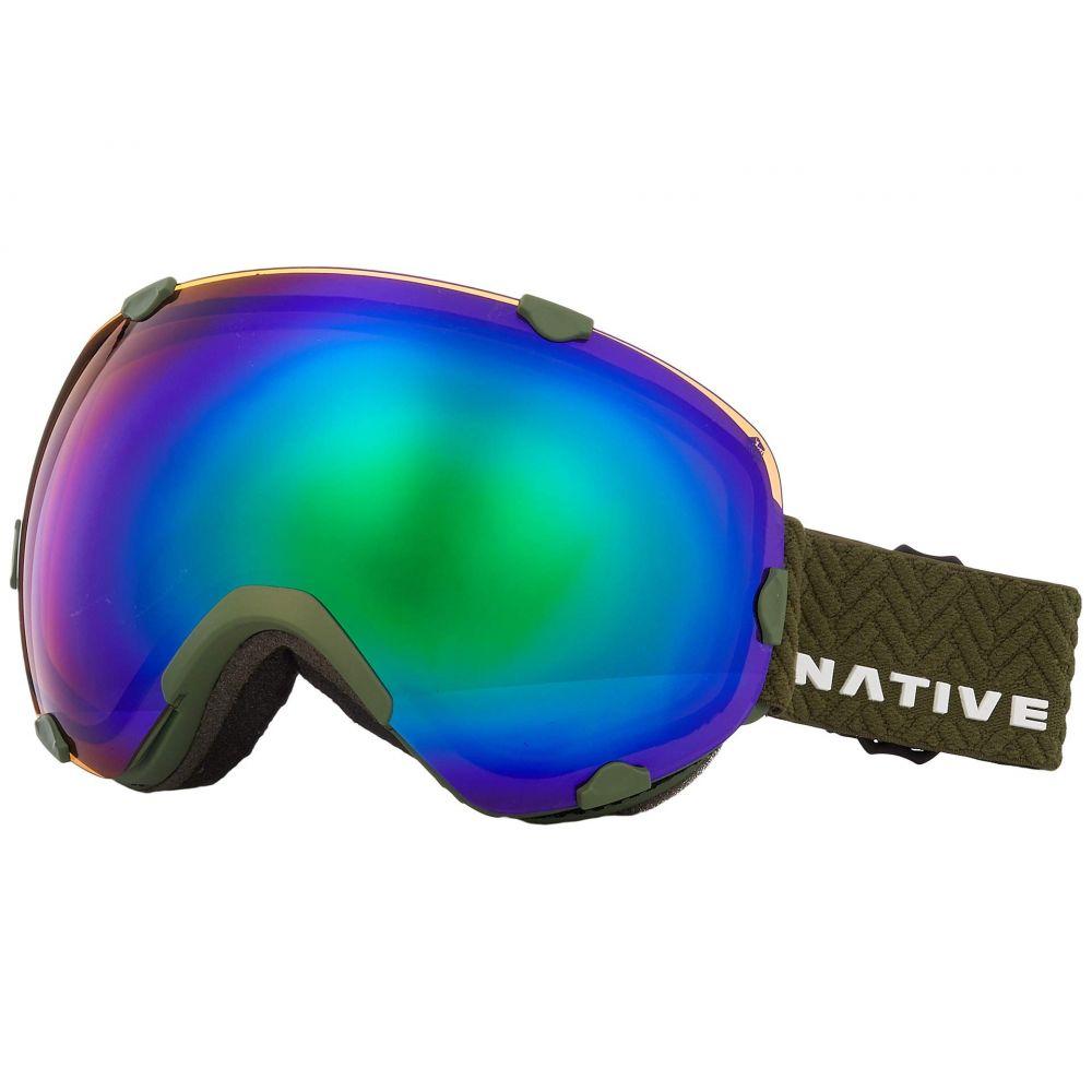 ネイティブアイウェア Native Tuned Eyewear レディース ゴーグル【Spindrift Amber】Snow Eyewear Tuned Amber Green, 森町:ed527e79 --- sunward.msk.ru