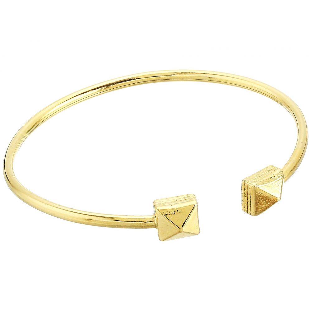 アレックス アンド アニ Alex and Ani レディース ジュエリー・アクセサリー ブレスレット【Pyramid Cuff Bracelet - Precious Metal】14KT Gold Plated