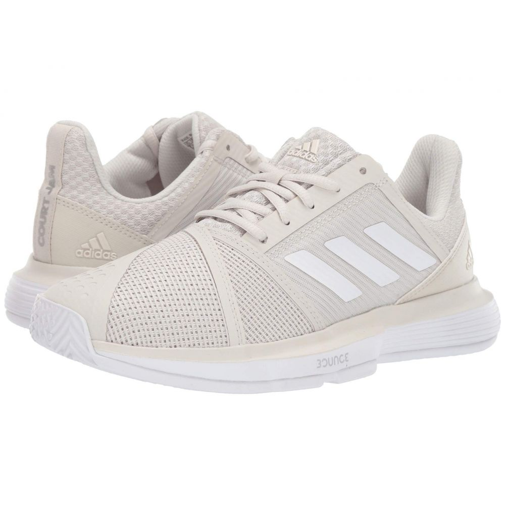 アディダス adidas レディース テニス シューズ・靴【CourtJam Bounce】Raw White/Footwear White/Matte Silver