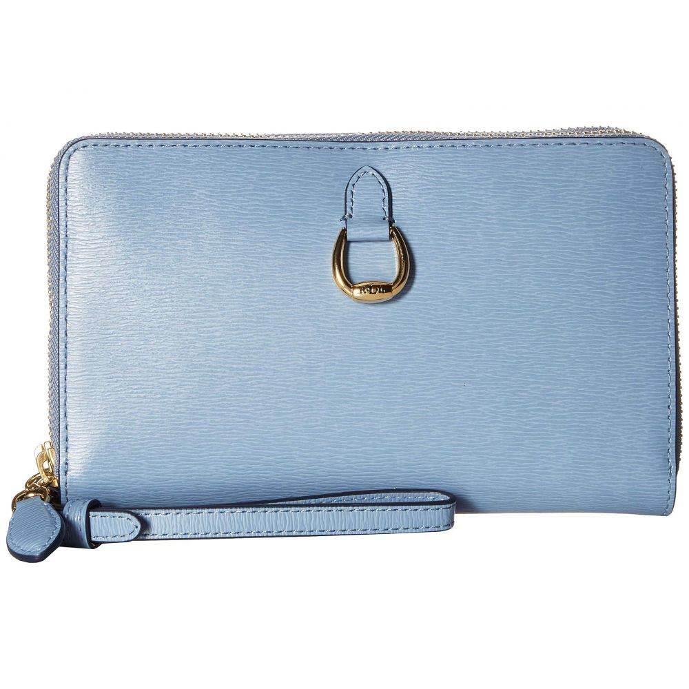 ラルフ ローレン LAUREN Ralph Lauren レディース スマホケース【Bennington Double Zip Phone Wristlet】Blue Mist