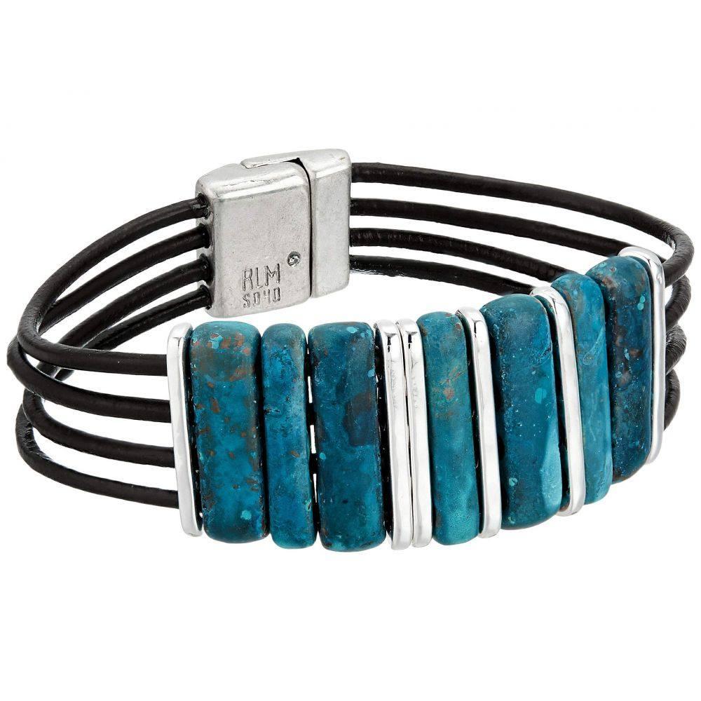 ロバート リー モーリス Robert Lee Morris レディース ジュエリー・アクセサリー ブレスレット【Dark Blue Patina Multi Row Leather Bracelet】Blue