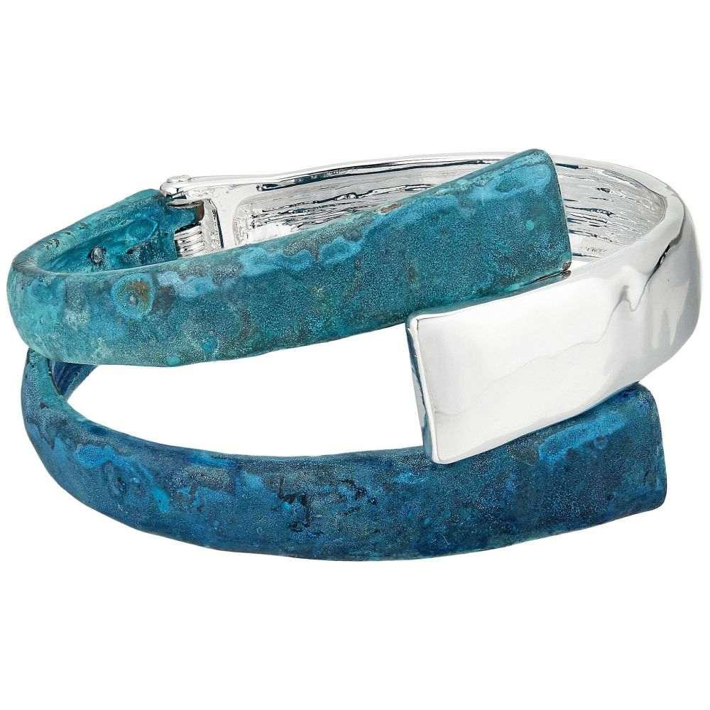 ロバート リー モーリス Robert Lee Morris レディース ジュエリー・アクセサリー ブレスレット【Dark Blue Patina Sculptural Bypass Hinged Bangle Bracelet】Blue