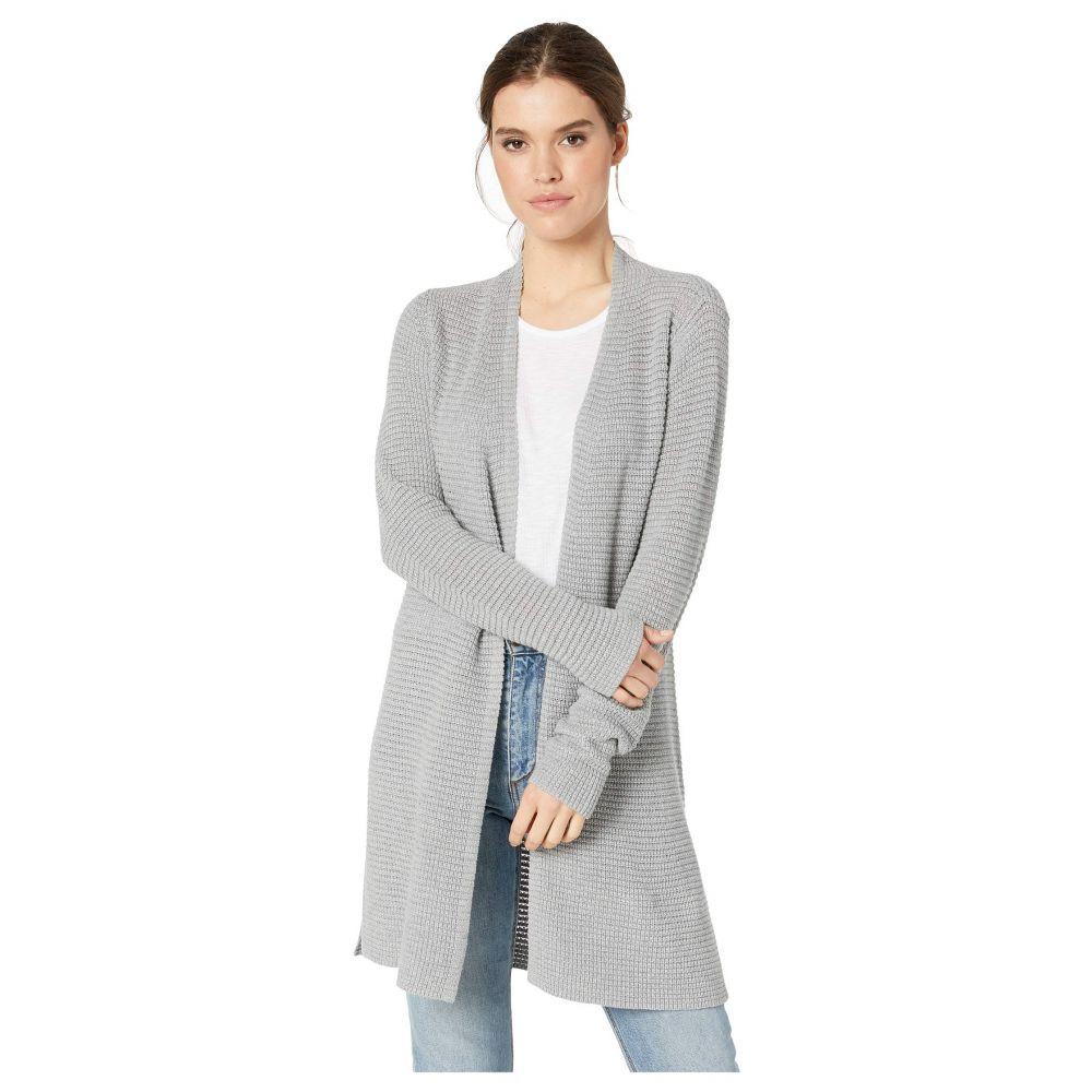 マイケルスターズ Michael Stars レディース トップス カーディガン【Shae Cotton Knit Long Sleeve Cardigan Sweater】Heather Grey