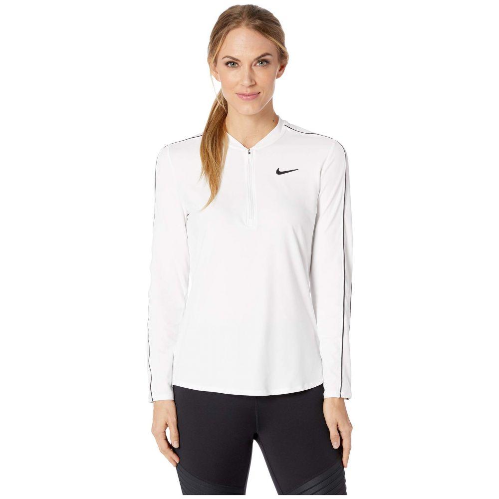 ナイキ Nike レディース トップス【Court Dry Top Long Sleeve 1/2 Zip】White/Black/Black/White