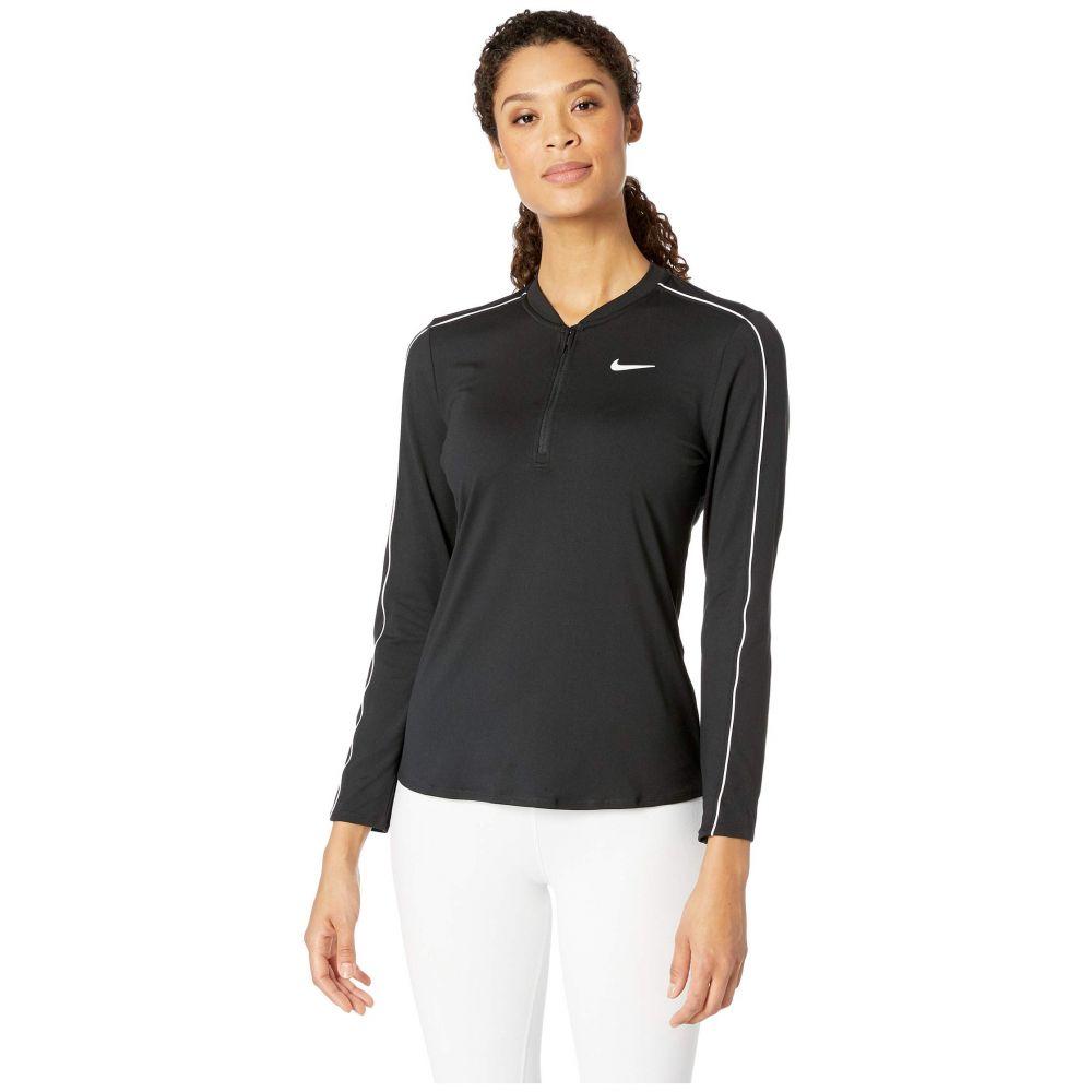 ナイキ Nike レディース トップス【Court Dry Top Long Sleeve 1/2 Zip】Black/White/White/Black