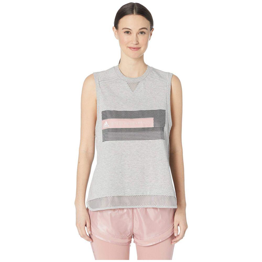 アディダス adidas by Stella McCartney レディース トップス タンクトップ【Logo Tank DT9230】Medium Grey Heather
