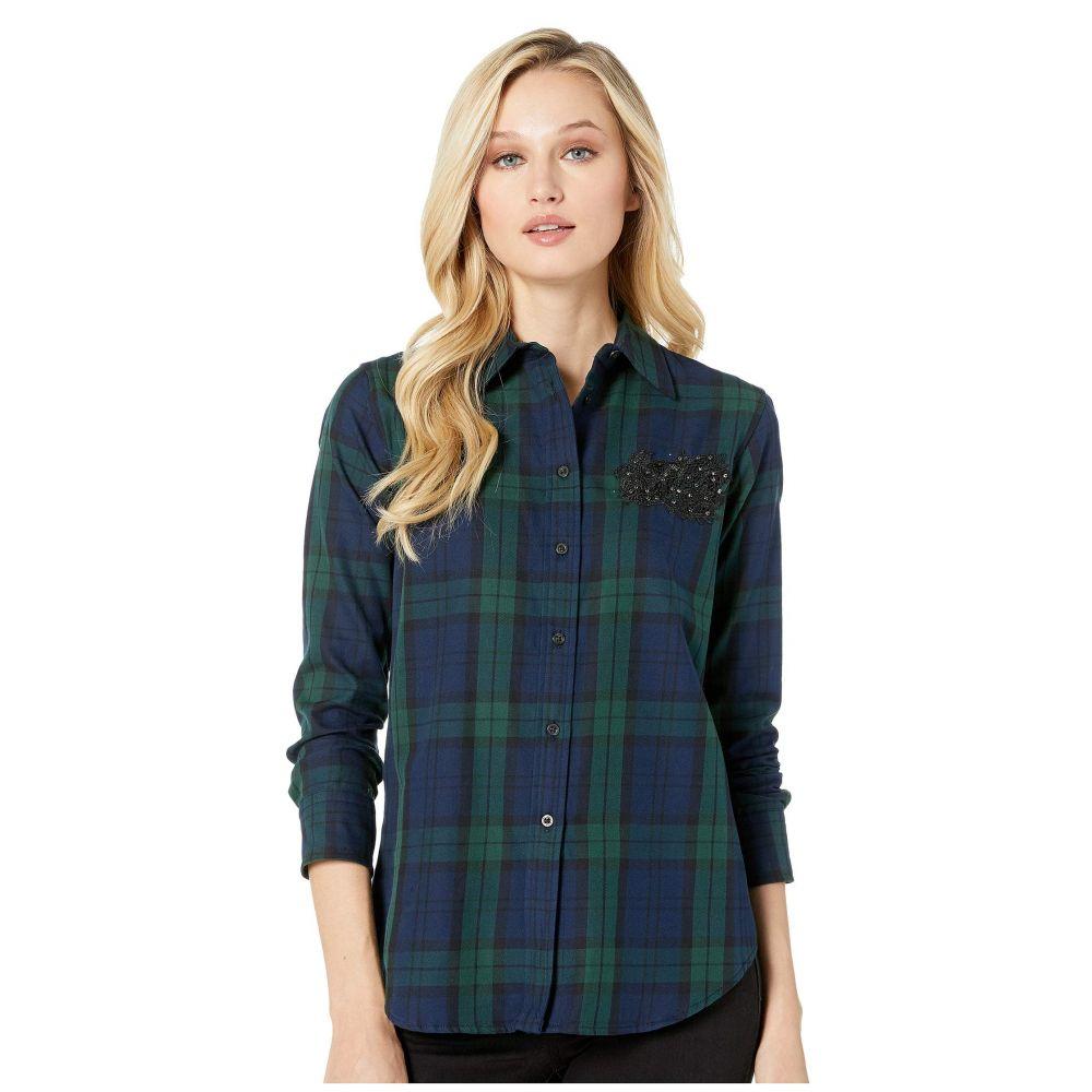 ラルフ ローレン LAUREN Ralph Lauren レディース トップス ブラウス・シャツ【Patch Tartan Cotton Shirt】Navy/Green Multi
