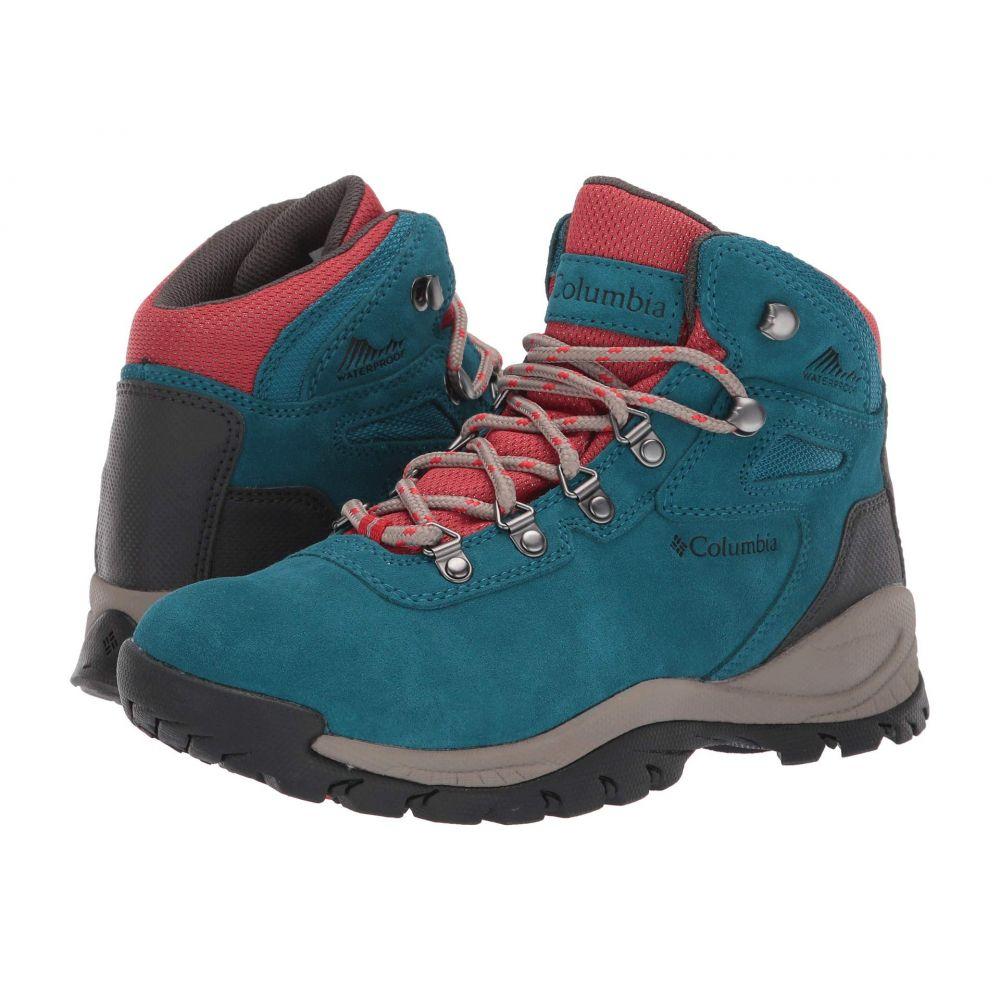 コロンビア Columbia レディース ハイキング・登山 シューズ・靴【Newton Ridge Plus Waterproof Amped】Aegean Blue/Cherrybomb