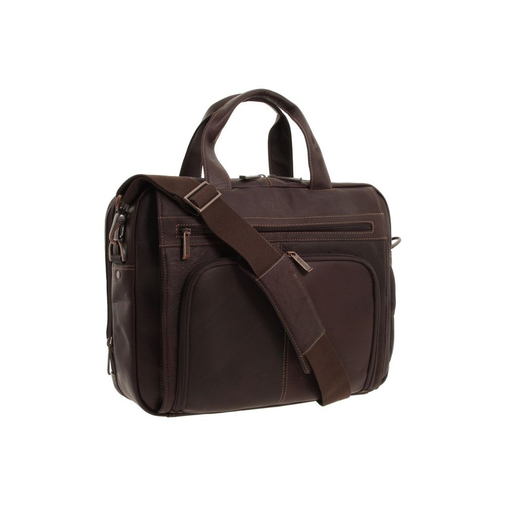 ケネス コール Kenneth Cole Reaction レディース バッグ パソコンバッグ【Out of the Bag' - 5 to 6 1/2' Double Gusset Expandable Top Zip Portfolio Computer Case】Dark Brown Full-Grain Leather