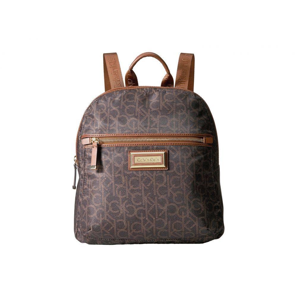 カルバンクライン Calvin Klein レディース バッグ バックパック・リュック【Belfast Dressy Nylon Backpack】Brown/Khaki Photoprint