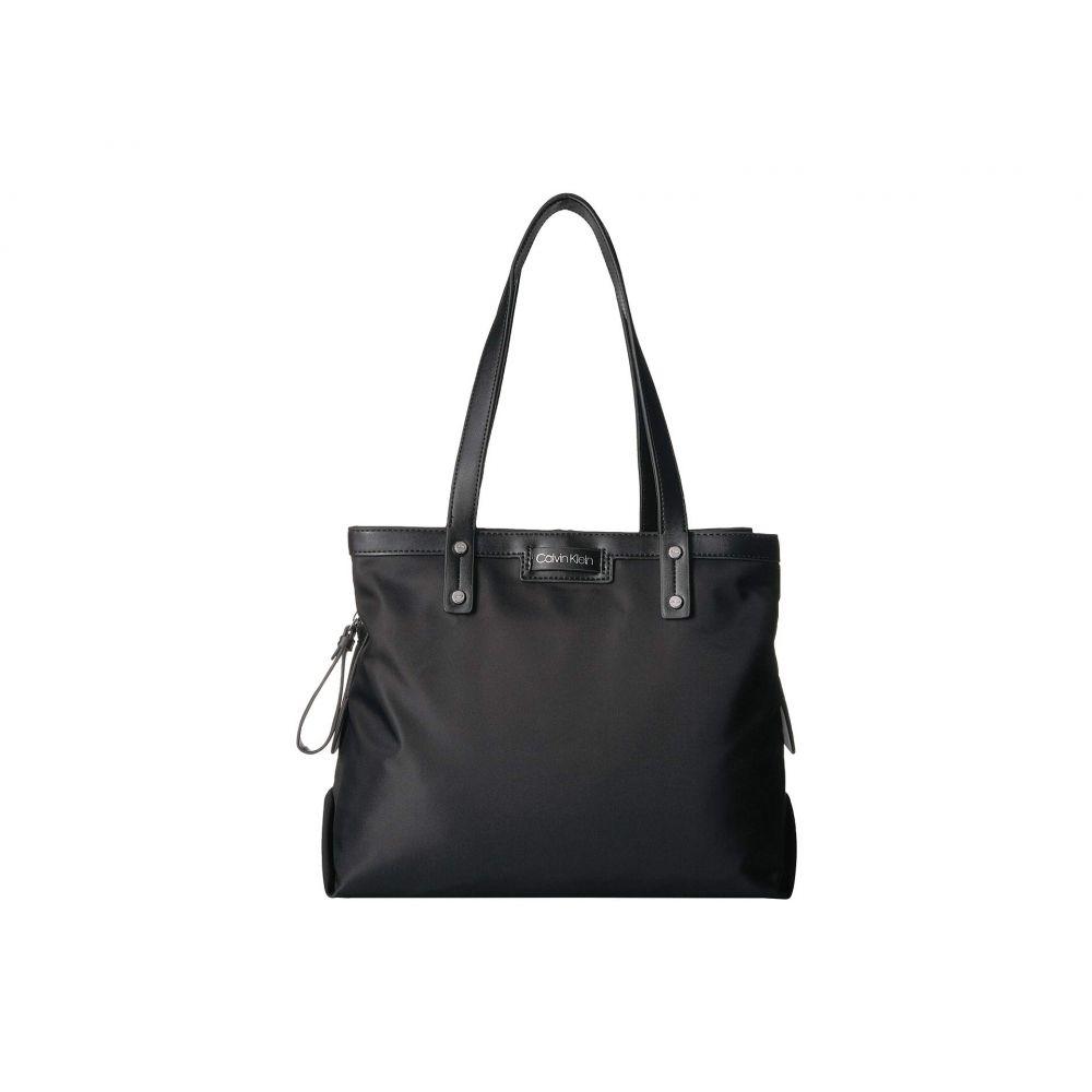 カルバンクライン Calvin Klein レディース バッグ トートバッグ【Lane Nylon Triple Compartment Tote】Black/Silver