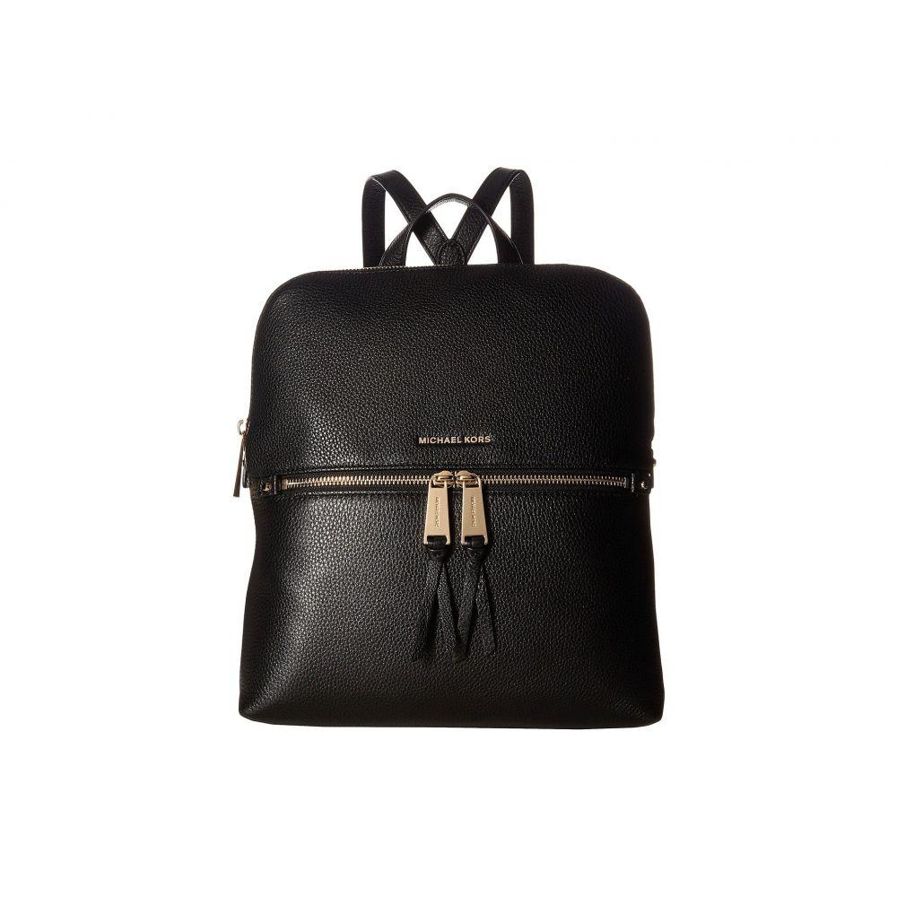 マイケル コース MICHAEL Michael Kors レディース バッグ バックパック・リュック【Rhea Zip Medium Slim Backpack】Black