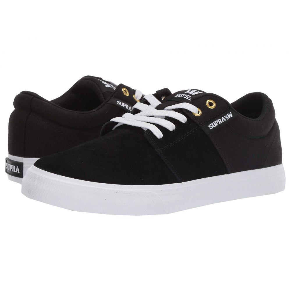 スープラ Supra メンズ シューズ・靴 スニーカー【Stacks Vulc II】Black/Black/White 1