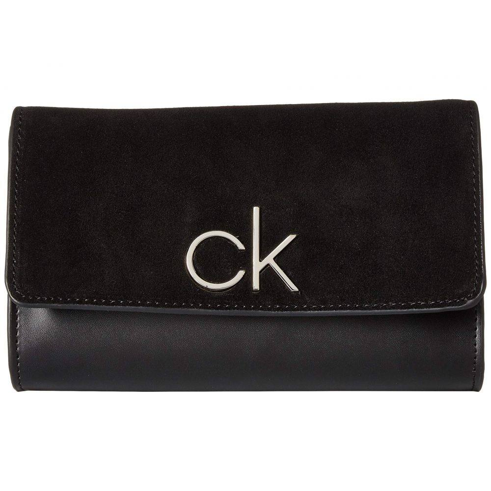 カルバンクライン Calvin Klein レディース バッグ ボディバッグ・ウエストポーチ【20 mm Strap Belt Bag, Suede Flap with Smooth Leather Body】Black/Polished Nickel