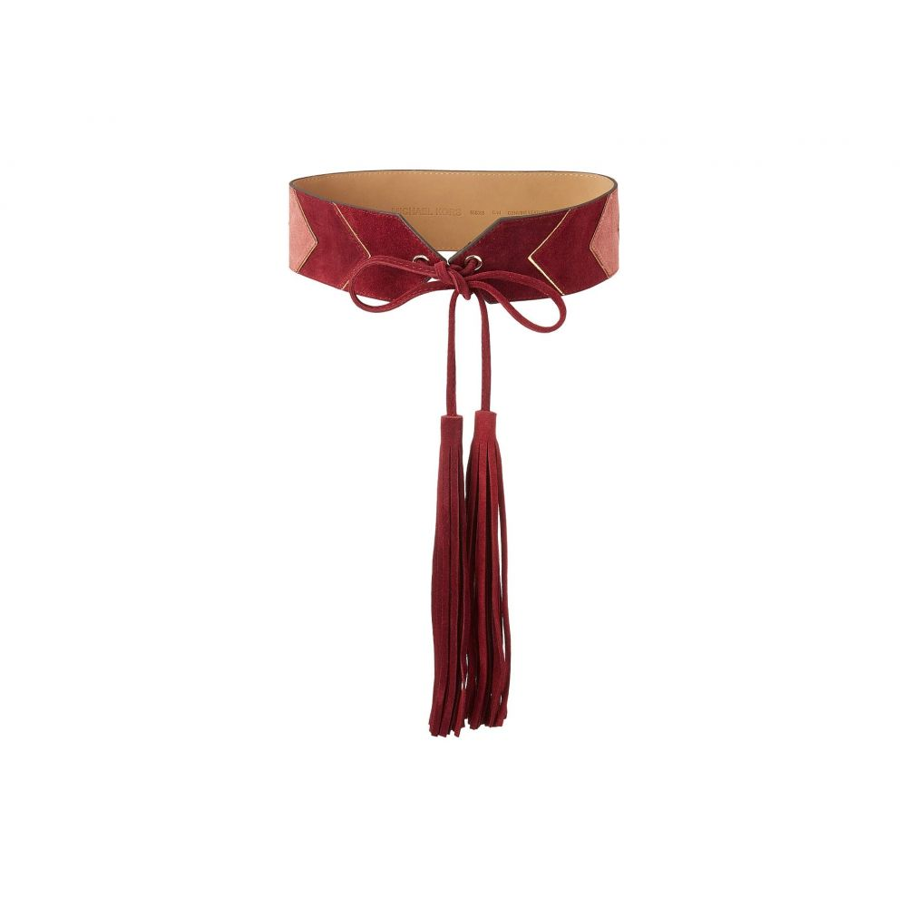 マイケル コース MICHAEL Michael Kors レディース ベルト【2.5 Deco Glam Waist Belt】Oxblood/Light Polished Gold