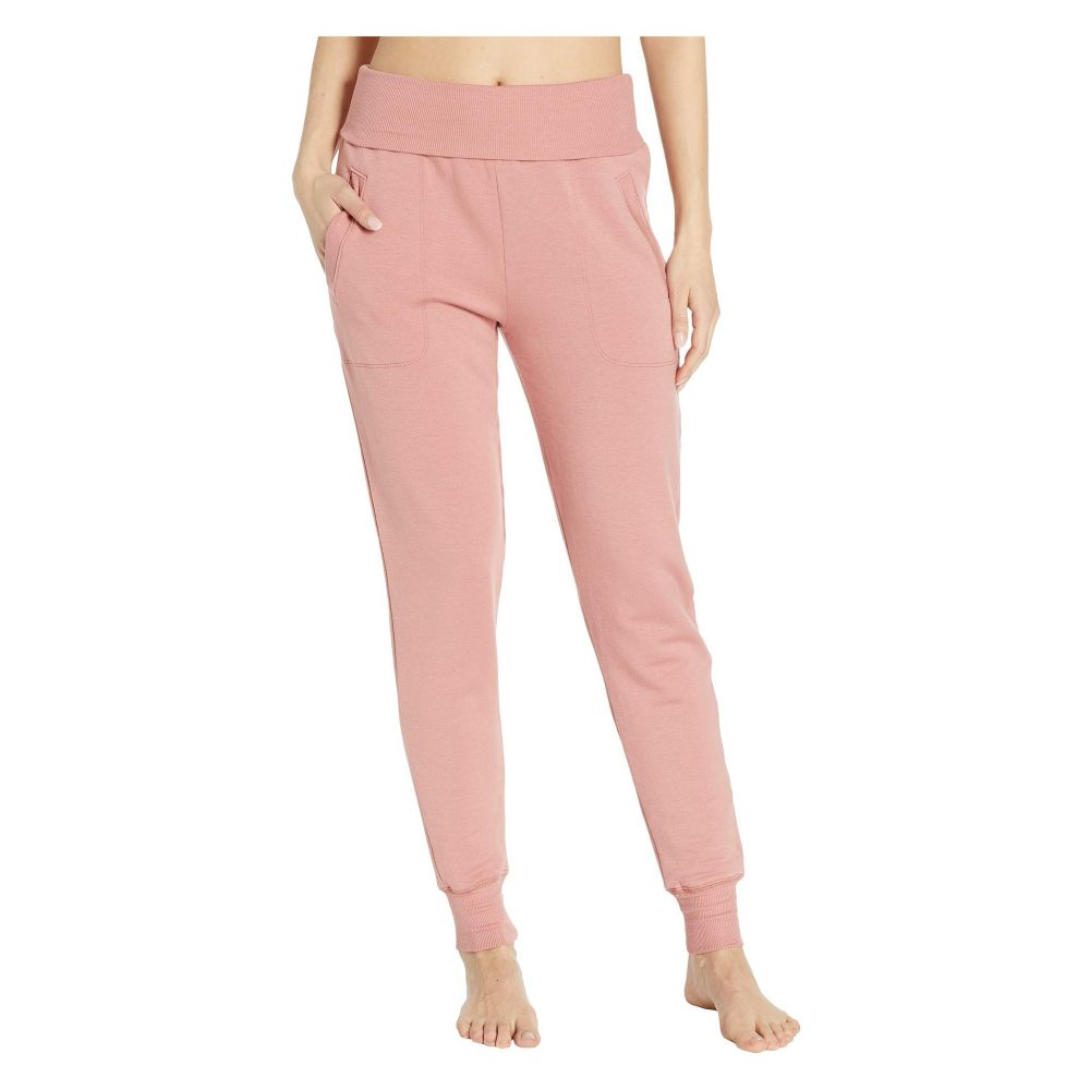 ビヨンドヨガ Beyond Yoga レディース ボトムス・パンツ スウェット・ジャージ【Fleece Fold-Over Sweatpants】Pink Lei