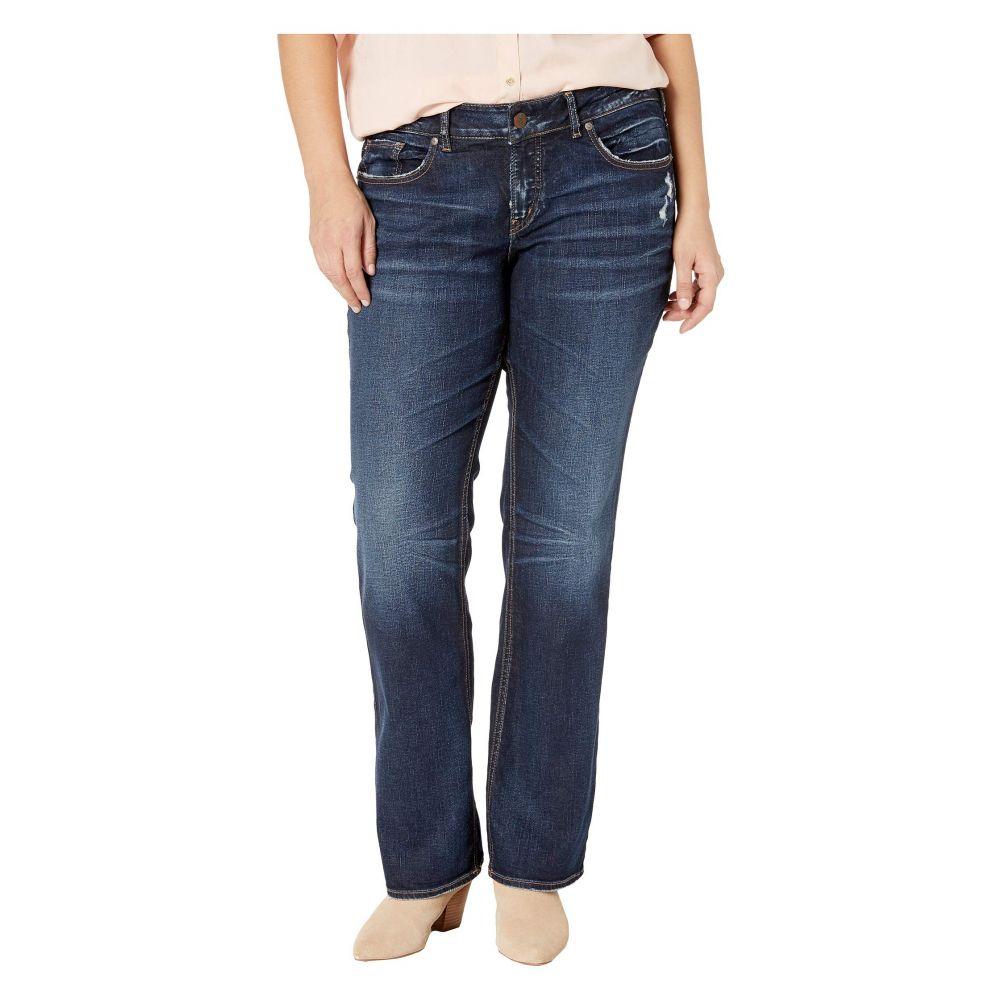 シルバー ジーンズ Silver Jeans Co. レディース ボトムス・パンツ ジーンズ・デニム【Plus Size Elyse Mid-Rise Eased Curvy Slim Boot Jeans in Indigo】Indigo