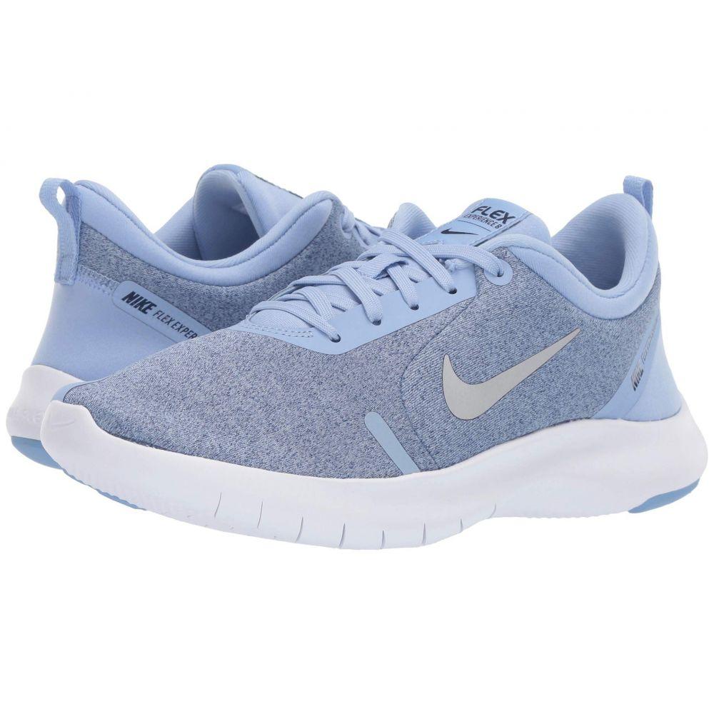 ナイキ Nike レディース ランニング・ウォーキング シューズ・靴【Flex Experience RN 8】Aluminum/Metallic Silver/Blue Void/White