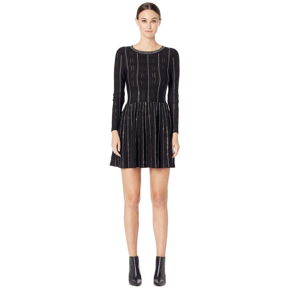 クーパース The Kooples レディース ワンピース・ドレス ワンピース【Fully Studded Knit Dress】Black