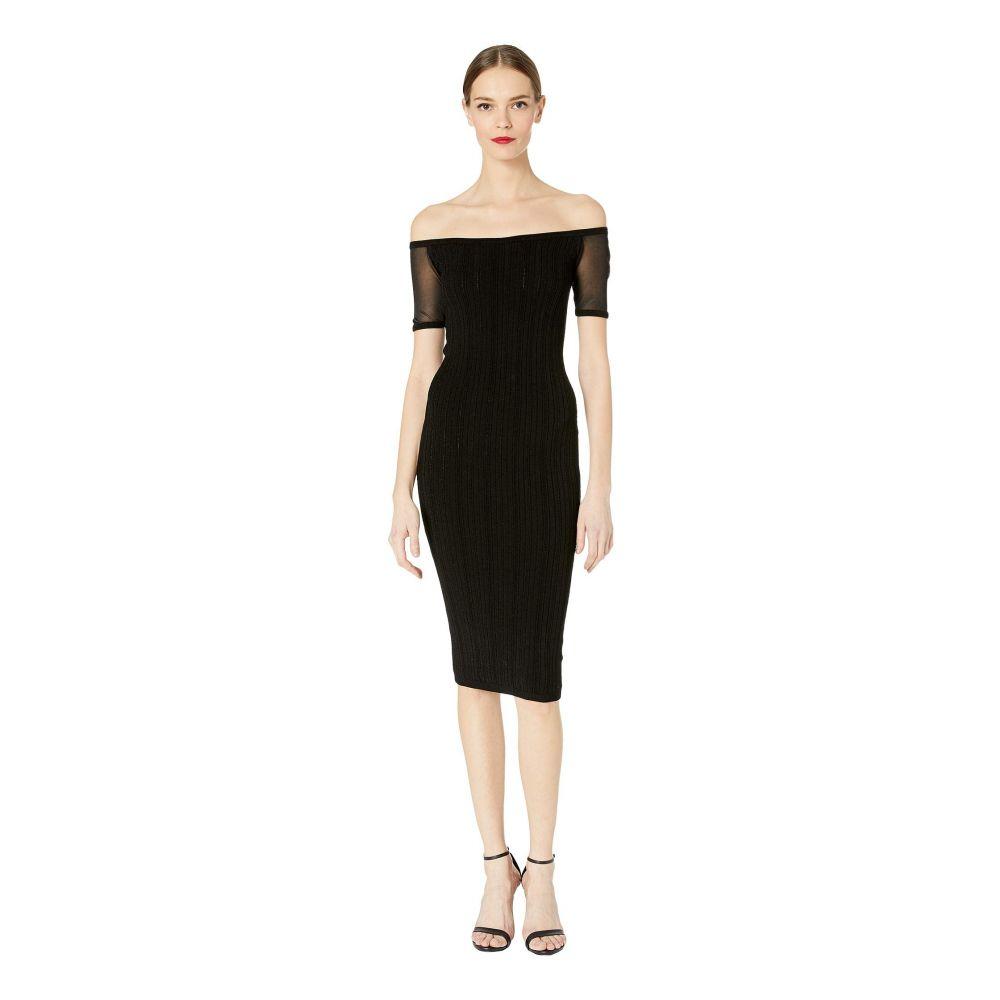 クシュニーエオクス Cushnie レディース ワンピース・ドレス ワンピース【Strapless Knit Pencil Dress with Sheer Short Sleeve】Black