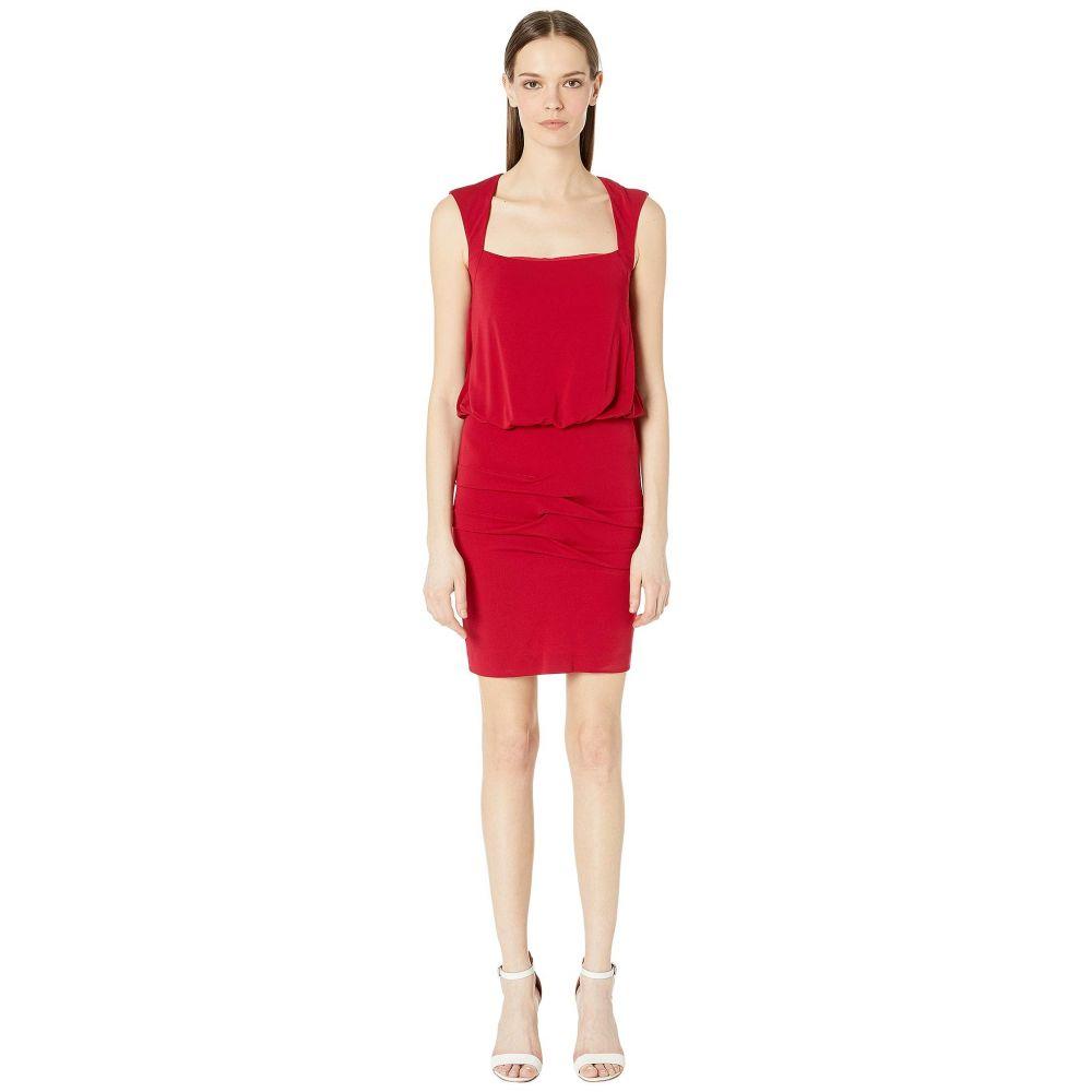 ニコルミラー Nicole Miller レディース ワンピース・ドレス ワンピース【Stretchy Matte Jersey Sleeveless Blouson Dress】Red