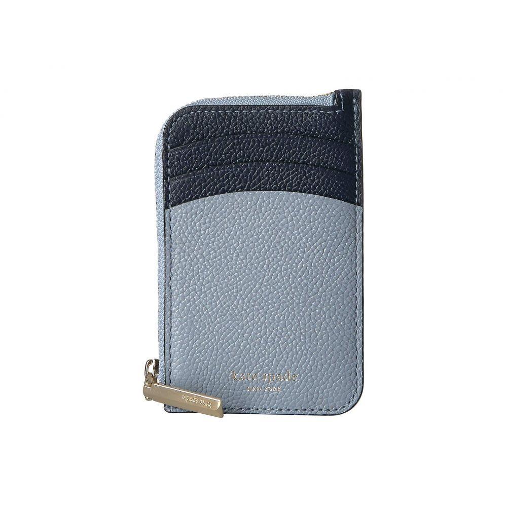 ケイト スペード Kate Spade New York レディース カードケース・名刺入れ【Margaux Zip Card Holder】Horizon Blue Multi