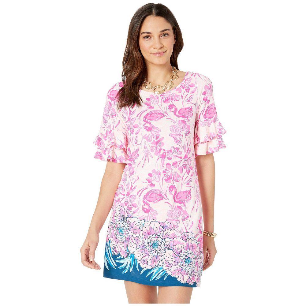 リリーピュリッツァー Lilly Pulitzer レディース ワンピース・ドレス ワンピース【Lula Dress】Coral Reef Tint Flamingle Engineered Dress Front