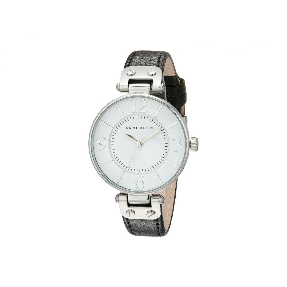 アン クライン Anne Klein レディース 腕時計【109169WTBK Round Dial Leather Strap Watch】Black