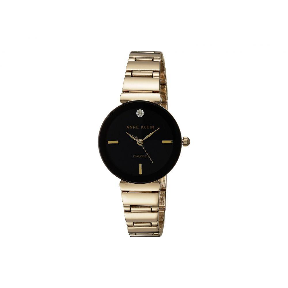 アン クライン Anne Klein レディース 腕時計【AK-2434BKGB】Gold-Tone