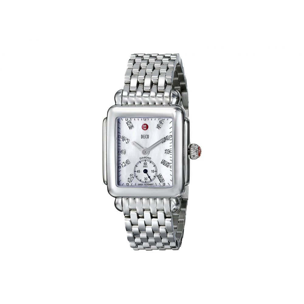 ミッシェル Michele レディース 腕時計【Deco Mid Diamond Dial Watch】Silver