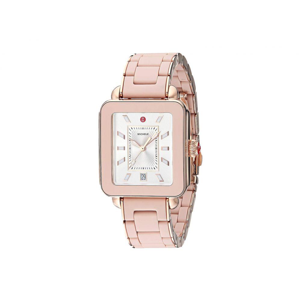 ミッシェル Michele レディース 腕時計【Deco Sport - MWW06K000018】Desert Rose Wrapped Silicone/Pink Gold Tone Case/Silver/White Su