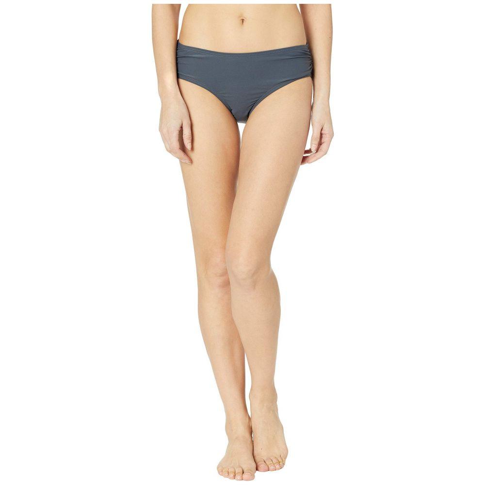 マイケル コース MICHAEL Michael Kors レディース 水着・ビーチウェア ボトムのみ【Iconic Solids Shirred Bikini Bottoms】Gunmetal