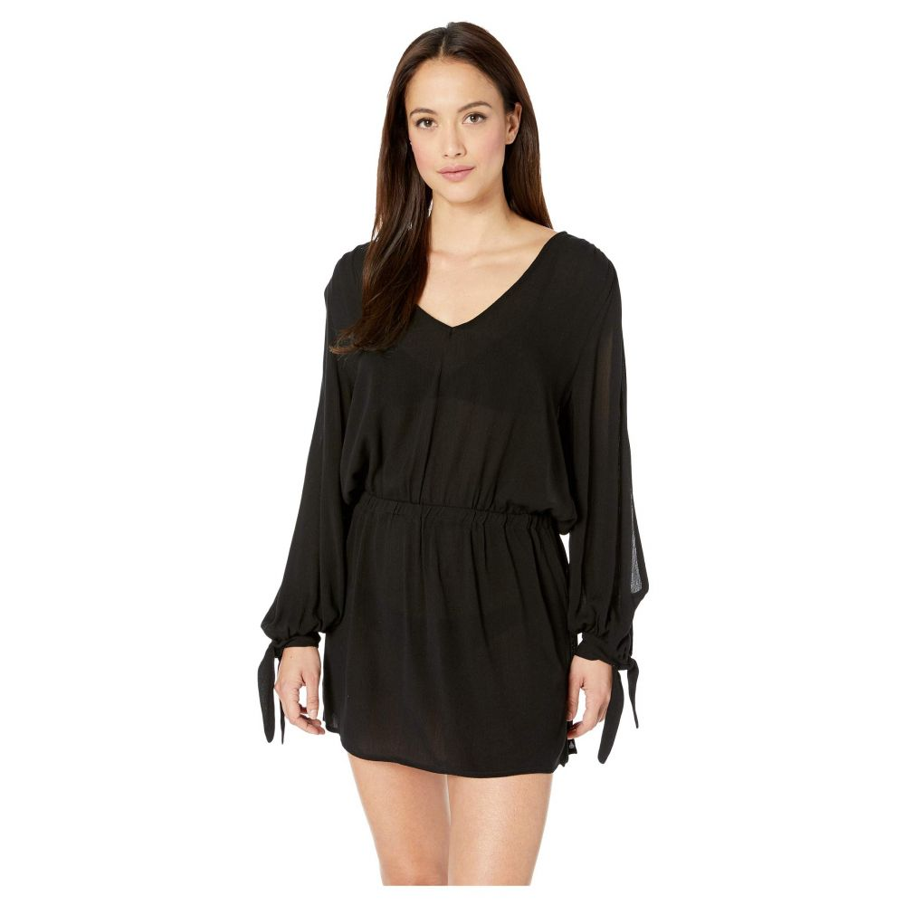 ソルーナ スイム SOLUNA SWIM レディース 水着・ビーチウェア ビーチウェア【Solaris Split Sleeve Dress Cover-Up】Black