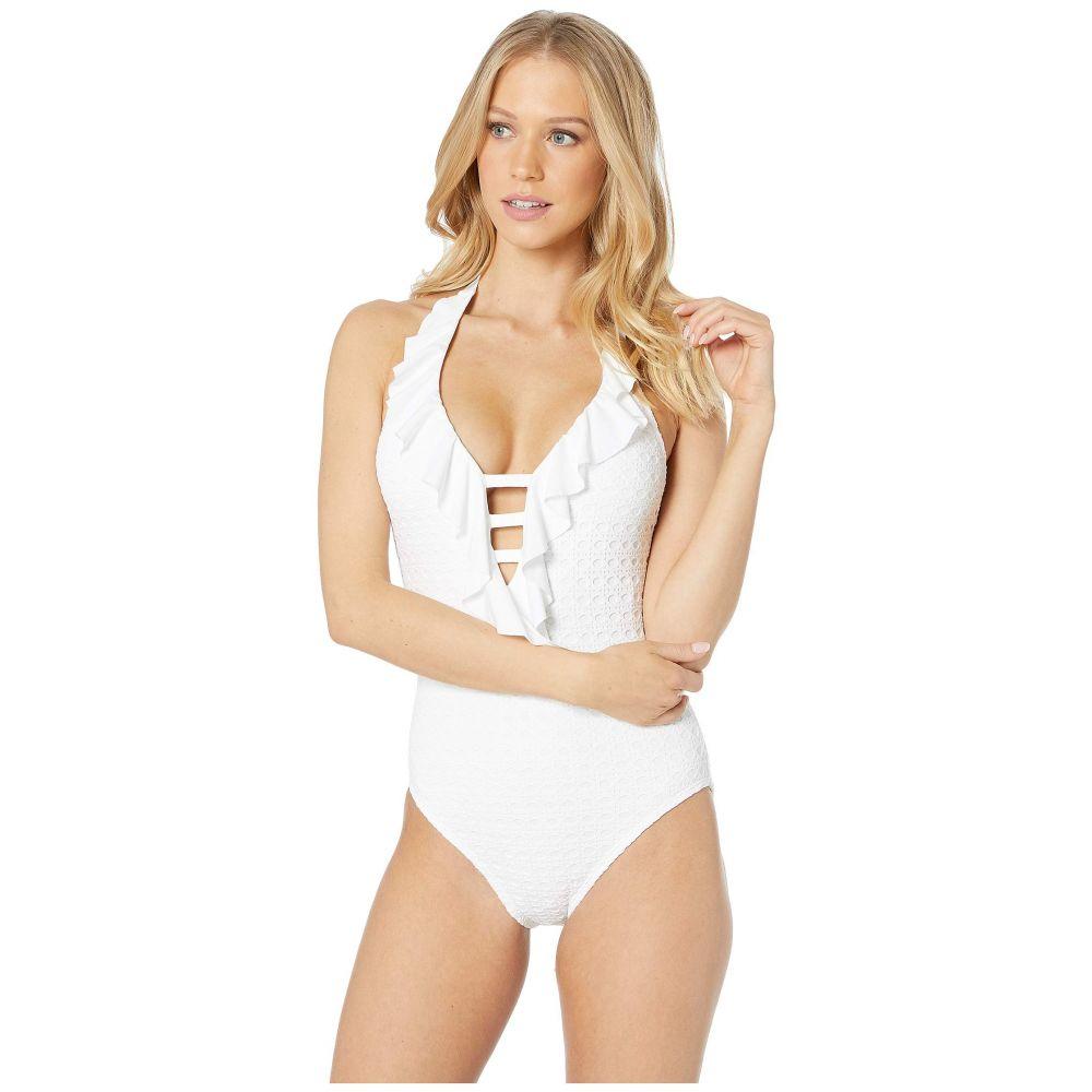 リリーピュリッツァー Lilly Pulitzer レディース 水着・ビーチウェア ワンピース【Nevis Halter One-Piece】Resort White Crochet Swim Fabric