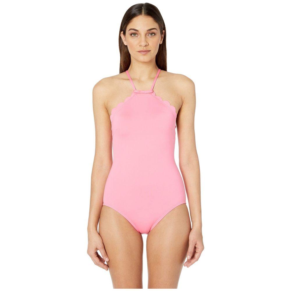 ケイト スペード Kate Spade New York レディース 水着・ビーチウェア ワンピース【Core Solids #79 Scalloped High Neck One-Piece w/ Removable Soft Cups】Meadow Pink