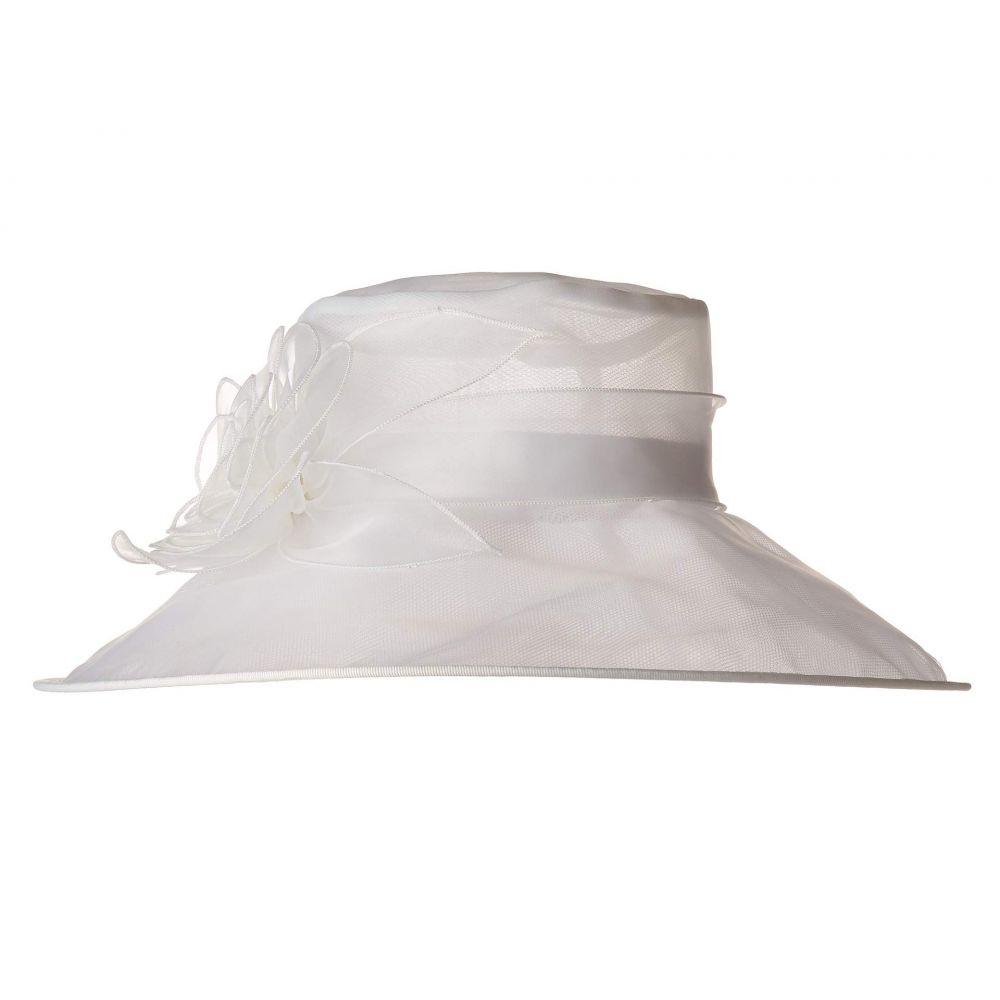 サンディエゴハット San Diego Hat Company レディース 帽子【DRS1020 Organza Dress Hat w/ Rosette】White