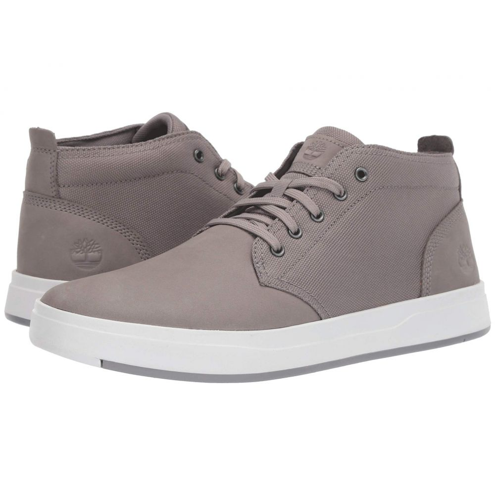 ティンバーランド Timberland メンズ シューズ・靴 ブーツ【Davis Square Leather and Fabric Chukka】Medium Grey Nubuck