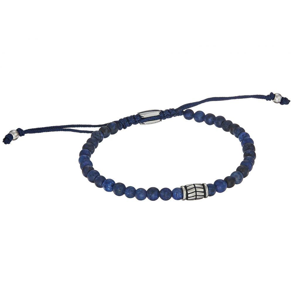 43999d3ffeec フォッシル メンズ ジュエリー・アクセサリー ブレスレット Blue 【サイズ交換無料】 フォッシル Fossil メンズ ジュエリー