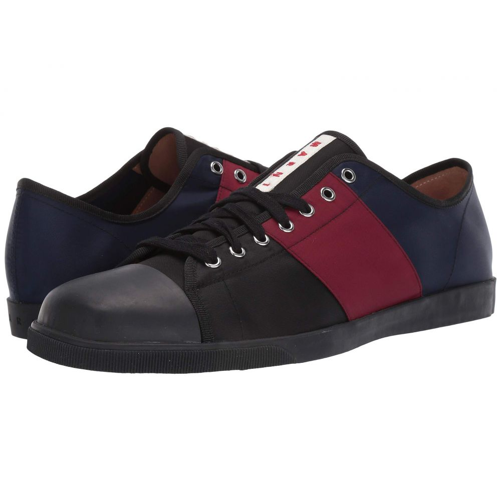 マルニ MARNI メンズ テニス シューズ・靴【Multicolor Tennis Sneaker】Black/Port/Red/Blue