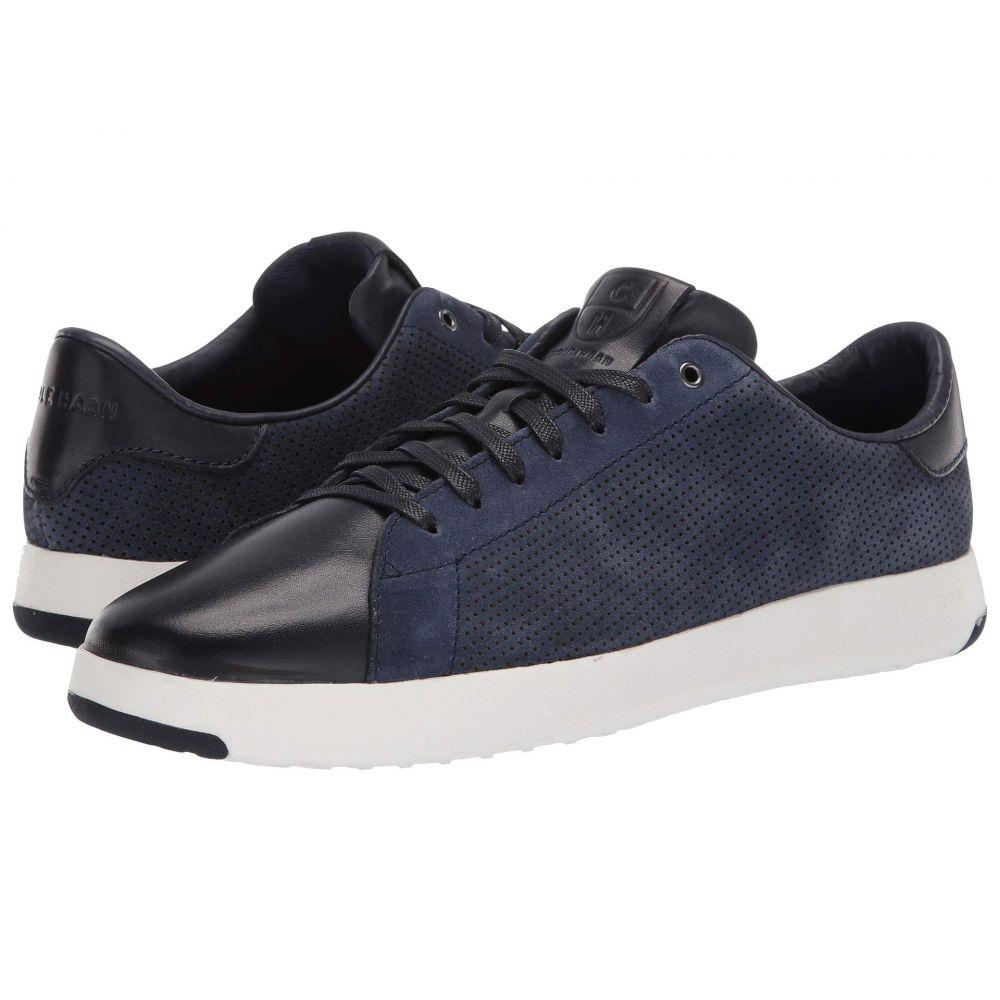 コールハーン Cole Haan メンズ テニス シューズ・靴【GrandPro Tennis Sneaker】Marine Blue Suede/Navy Ink