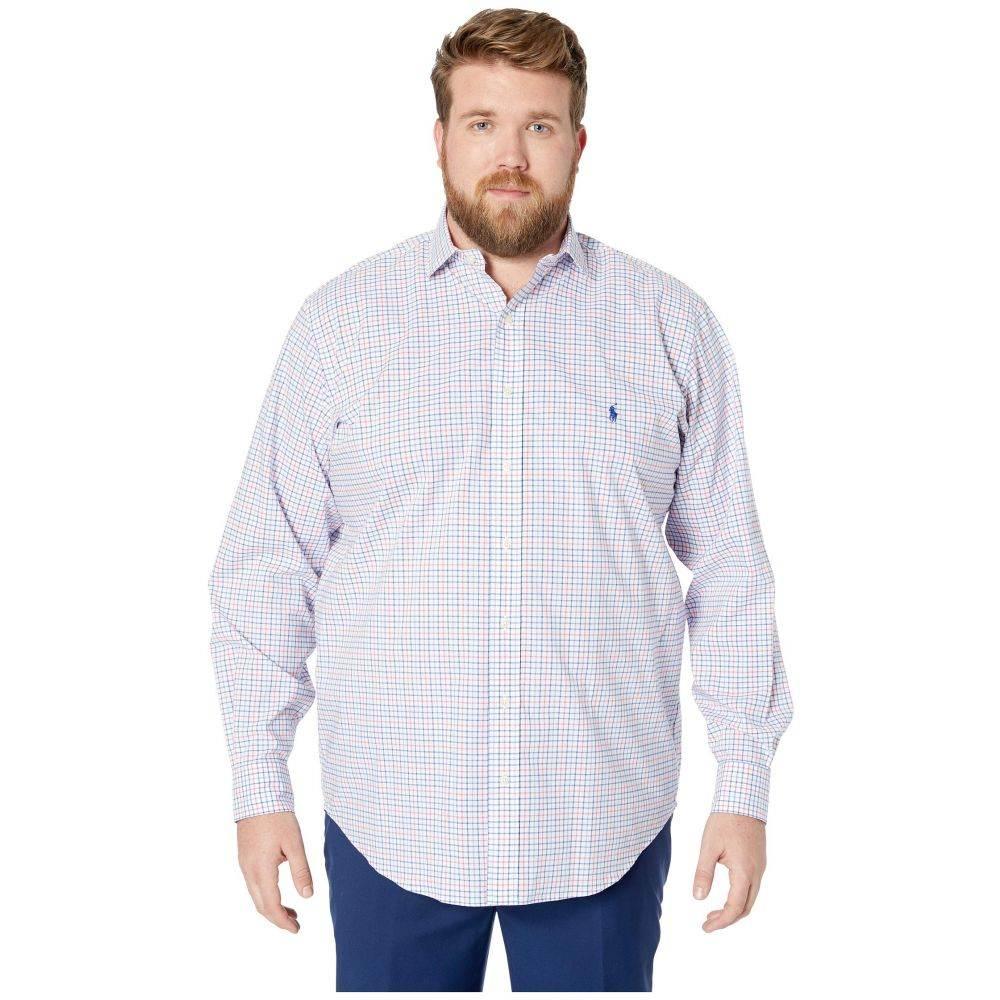 ラルフ ローレン Polo Ralph Lauren Big & Tall メンズ トップス【Big & Tall Natural Stretch Poplin Long Sleeve Classic Fit Jacket】Blush/Navy