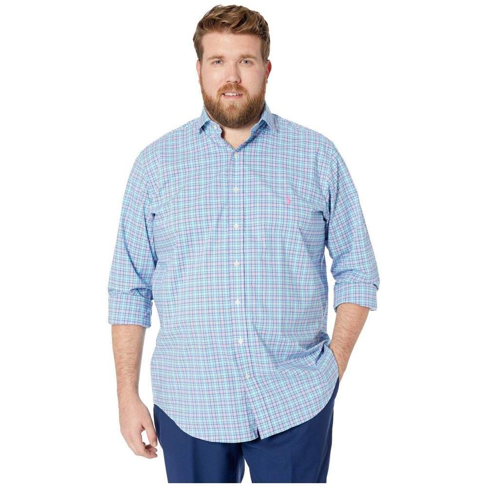 ラルフ ローレン Polo Ralph Lauren Big & Tall メンズ トップス【Big & Tall Natural Stretch Poplin Long Sleeve Classic Fit Jacket】Aqua/Powder Blue