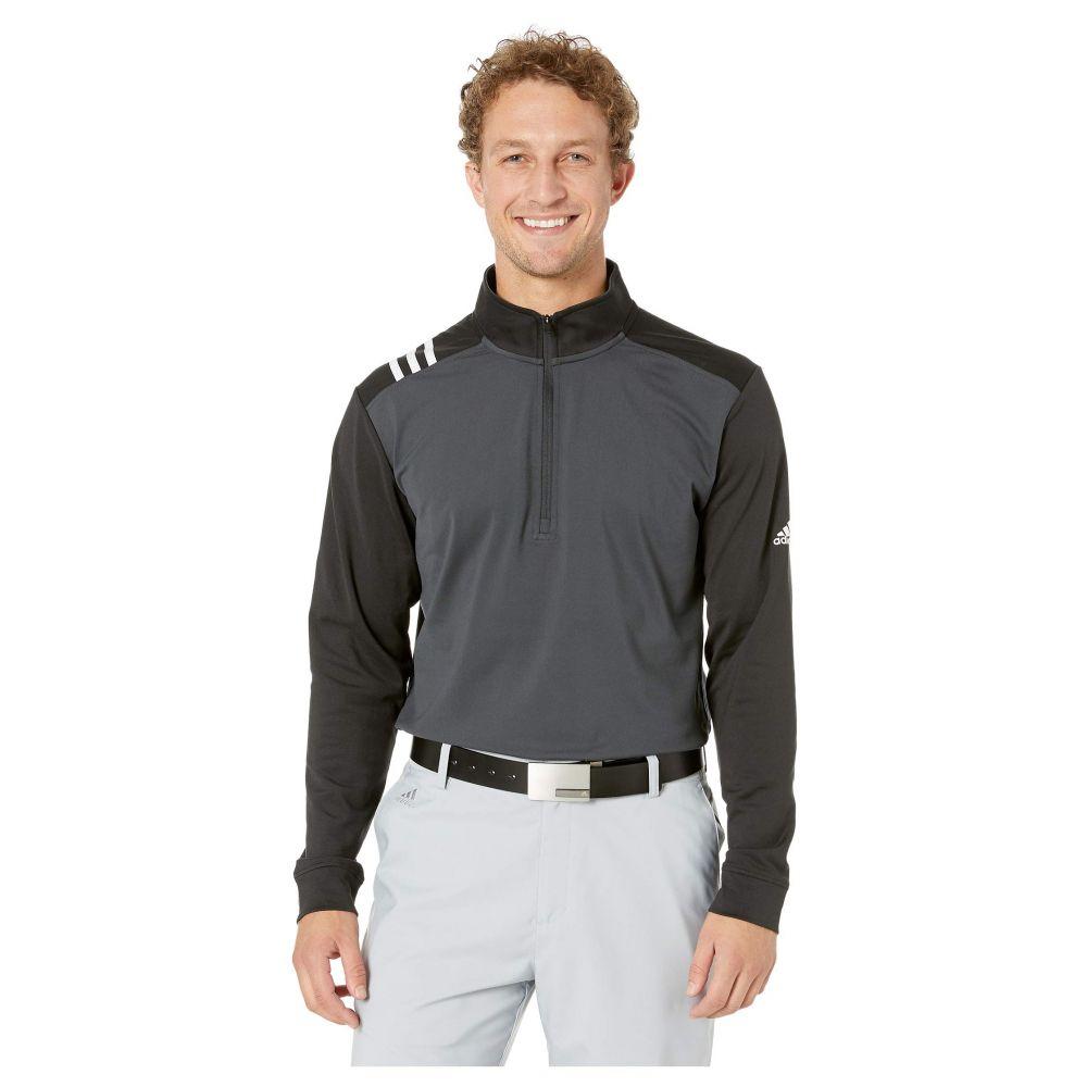 アディダス adidas Golf メンズ トップス【3-Stripes 1/4 Zip】Carbon/Black