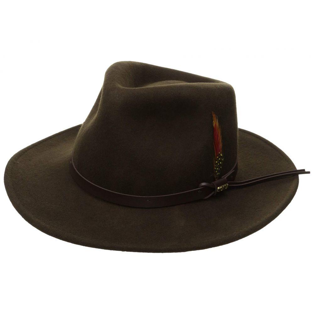スカラ SCALA メンズ 帽子 ハット【Crushable Felt Outback】Olive