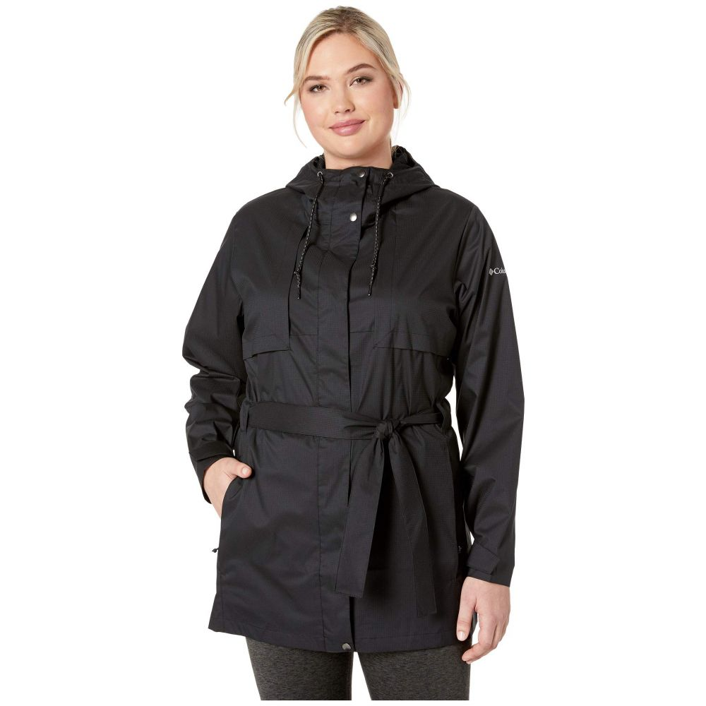 コロンビア Columbia レディース アウター レインコート【Plus Size Pardon My Trench(TM) Rain Jacket】Black