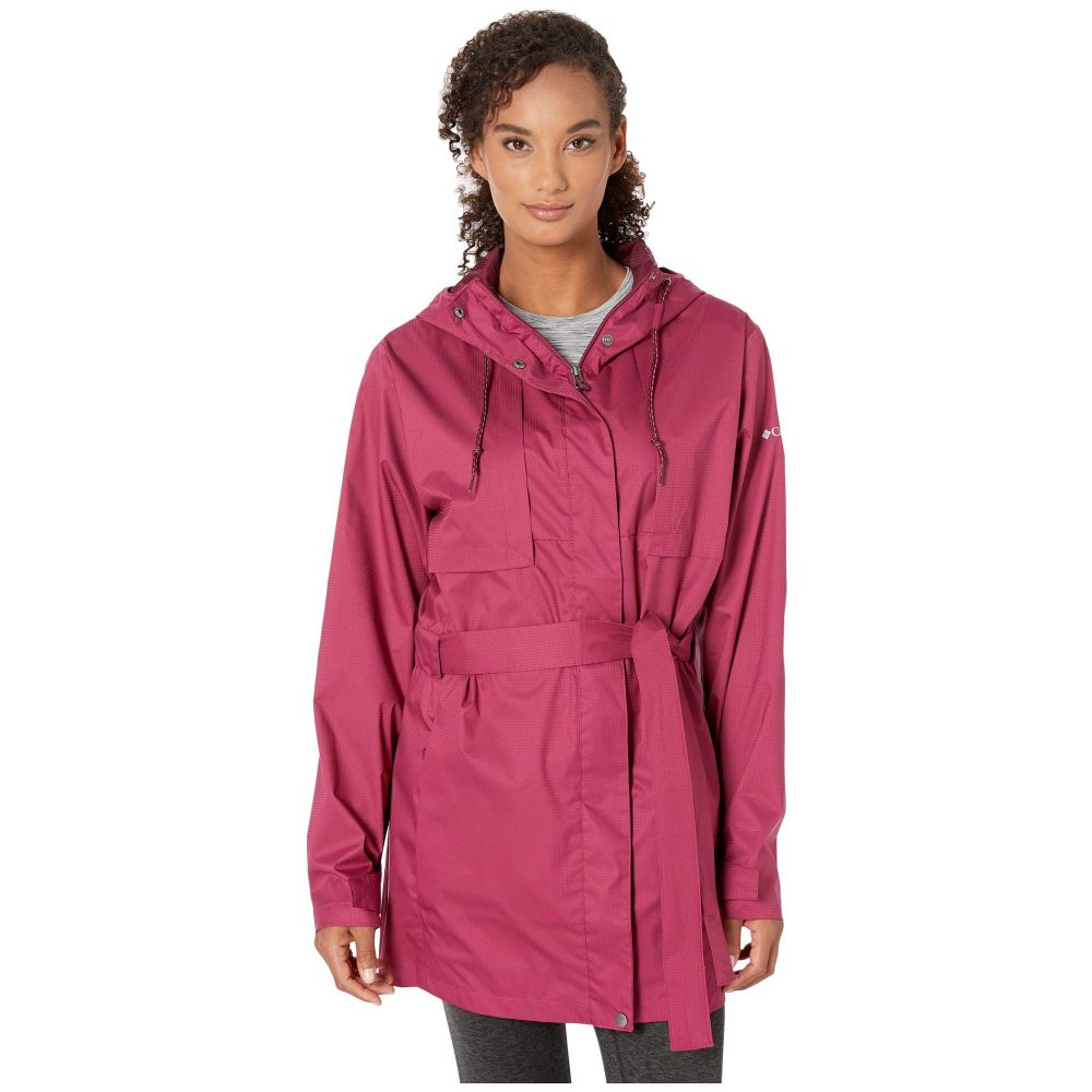 コロンビア Columbia レディース アウター レインコート【Plus Size Pardon My Trench(TM) Rain Jacket】Wine Berry