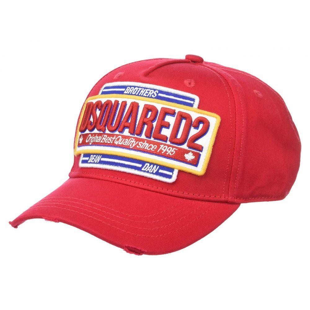 ディースクエアード DSQUARED2 メンズ 帽子 キャップ【Logo Baseball Cap】Red